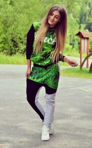 a0e68c8734ef2 Z621 Młodzieżowy komplet z nadrukiem 3D Buch dres marihuana rozmiar s m l xl