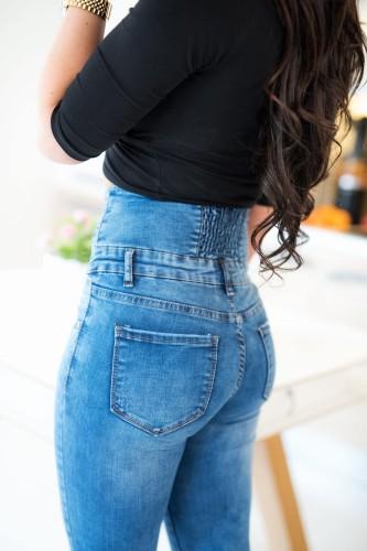 309d09f63325 promocja  nowość. Z527 Wysokie spodnie damskie jeansy high waist z guzikami rozmiar  xs s m l xl