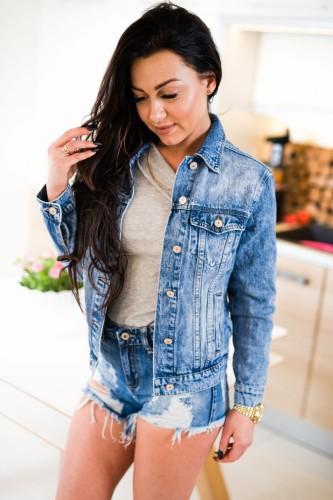 f75b776739291 Z518 Jeansowa kurtka damska dekatyzowana katana dżinsowa rozmiar xs s m l