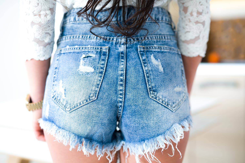 Masywnie Z555 Seksowne krótkie spodenki jeansowe damskie szorty rozmiar xs CA53