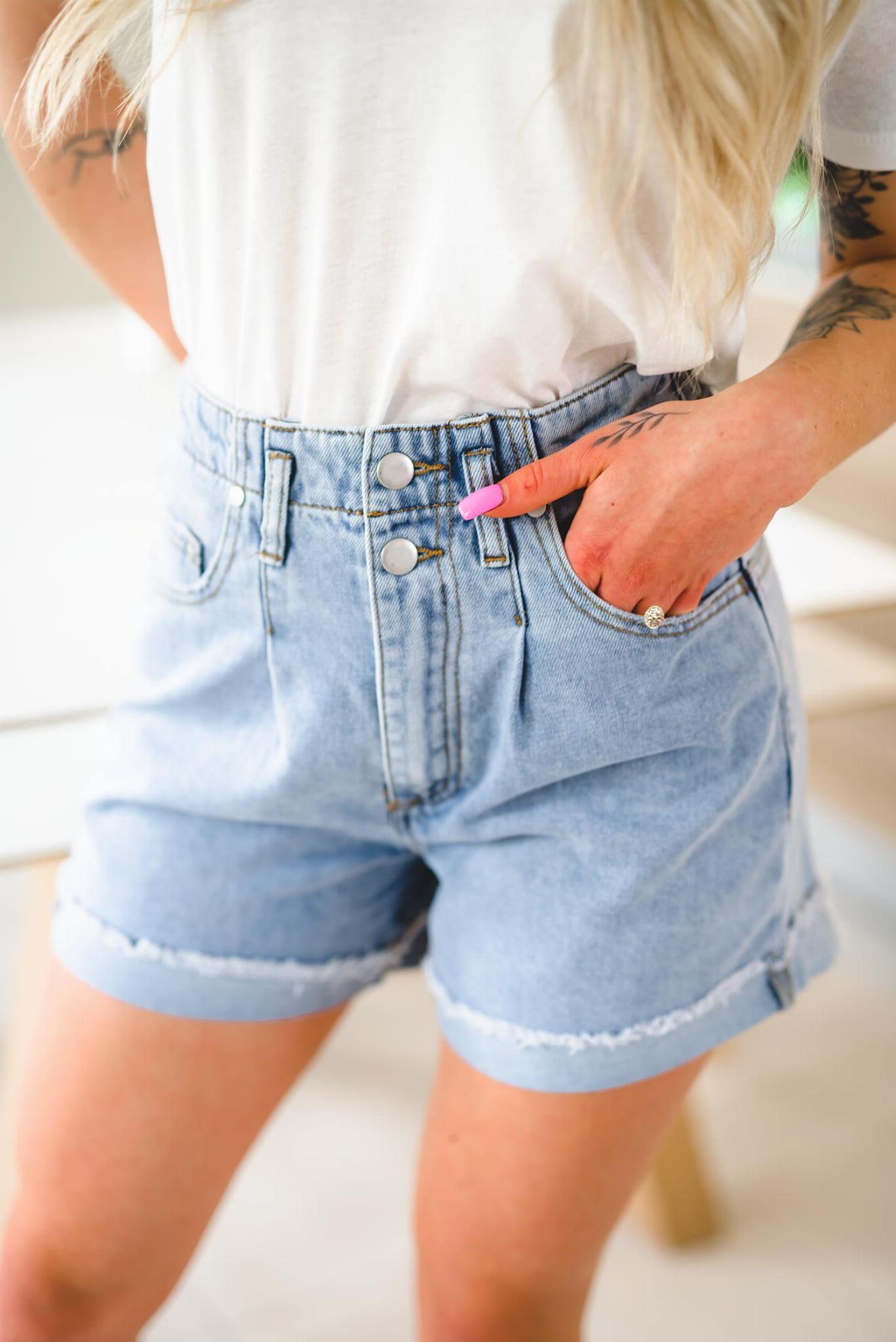 Z157 Luźne jeansowe spodenki damskie krótkie szorty z wysokim stanem xs s m l xl